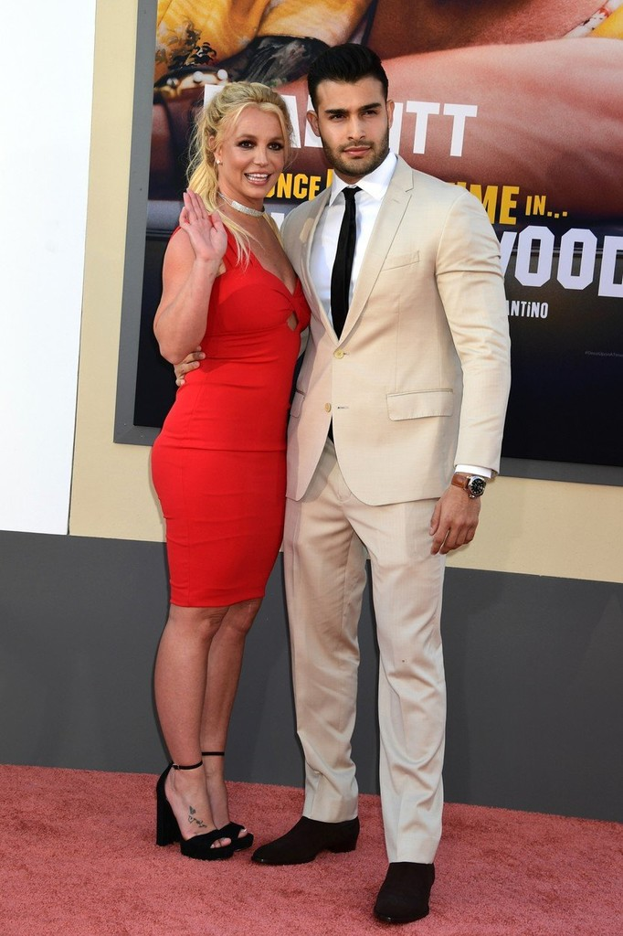 Britney Spears a Sam Asghari na premiére filmu Once Upon a Time in Hollywood